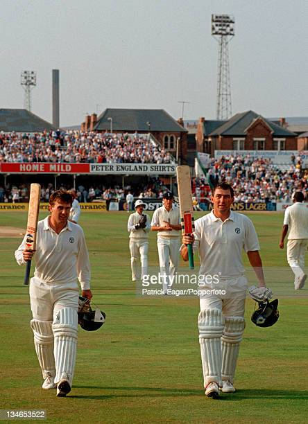 Mark Taylor and Geoff Marsh at the close of play with Australia 3010 they eventually put on 329 for the first wicket England v Australia 5th Test...