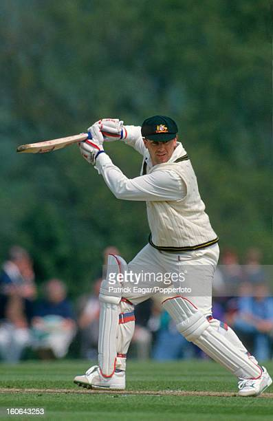 Mark Taylor batting against an English Amateur XI at Radlett