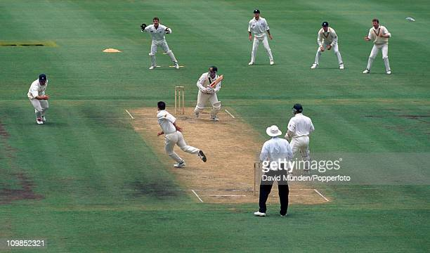 Mark Taylor batting during his innings of 113 for Australia in the 3rd Test match against England at the Sydney Cricket Ground 5th January 1995 The...