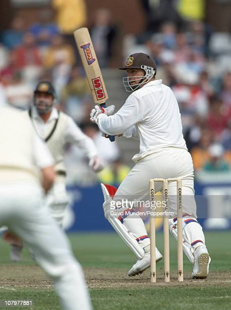 Mark Taylor batting for Australia during the 1st Test match between England and Australia at Old Trafford in Manchester 3rd June 1993 Australia won...