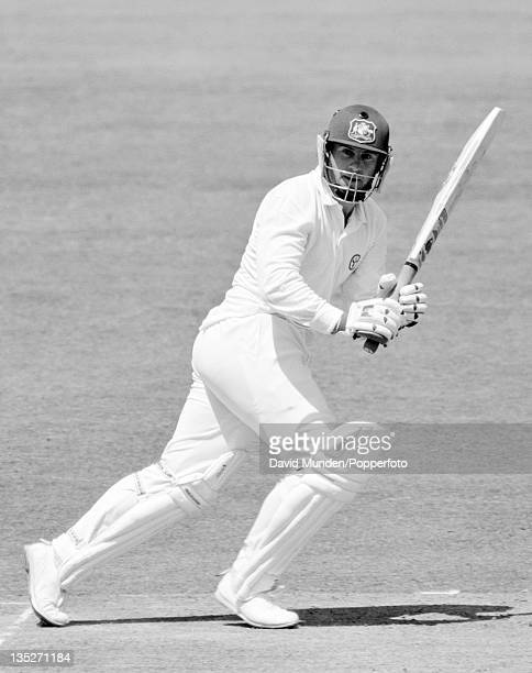 Mark Taylor batting for Australia during the 2nd Test match against England at Lord's cricket ground in London 27th June 1989 Australia won by six...