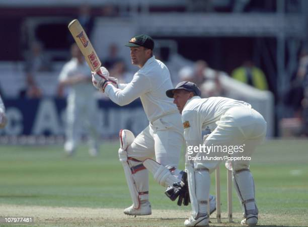 Mark Taylor batting for Australia during the 3rd Texaco Trophy match between England and Australia at Lord's Cricket Ground in London 23rd May 1993...