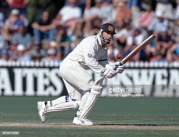 Mark Taylor batting for Australia during the 4th Test match between Australia and England at Adelaide Australia 27th January 1995