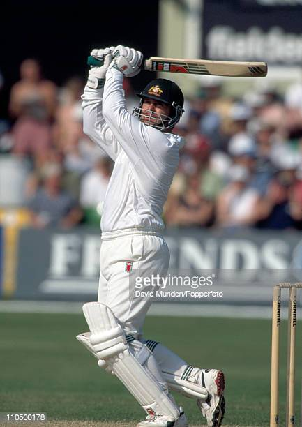Mark Taylor batting for Australia during the 5th Test Match against England at Trent Bridge in Nottingham 10th August 1997 Australia won by 264 runs