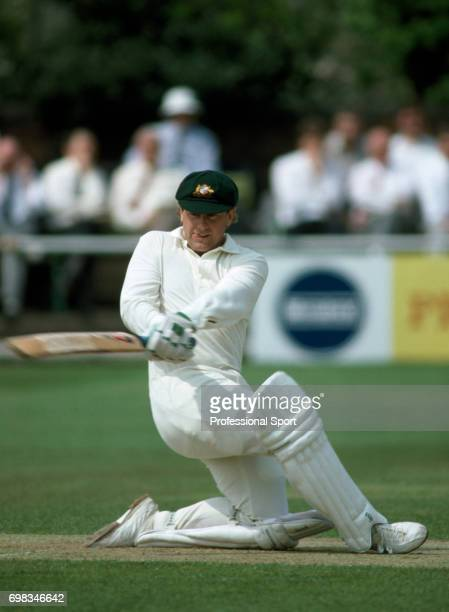 Mark Taylor batting for Australia during the tour match between League Cricket Conference and the Australians at Sandwell Park West Bromwich 5th May...