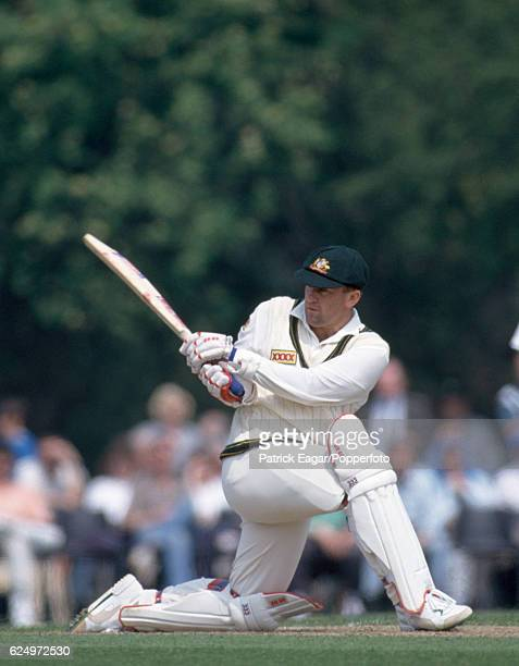 Mark Taylor batting for Australia during the tour match between England Amateur XI and Australians at Radlett 30th April 1993