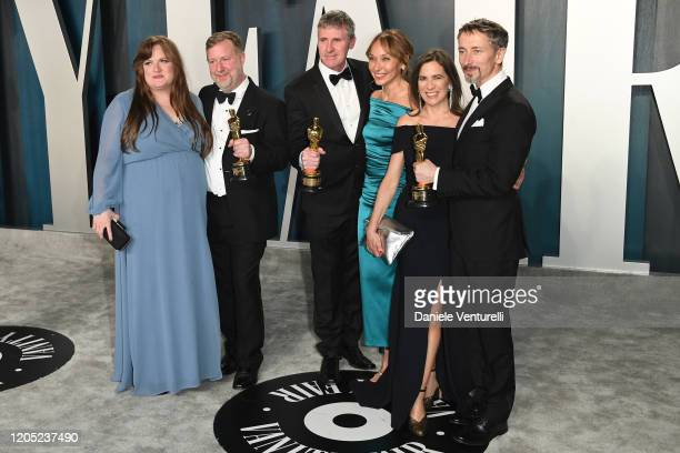 Mark Taylor , Greg Butler and Dominic Tuohy attend the 2020 Vanity Fair Oscar party hosted by Radhika Jones at Wallis Annenberg Center for the...