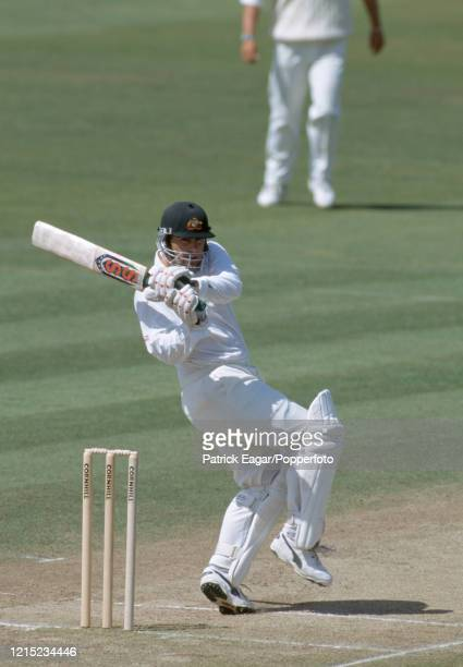 Mark Taylor of Australia batting during his innings of 129 in the 1st Test match between England and Australia at Edgbaston Birmingham 7th June 1997...