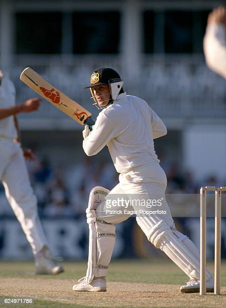 Mark Taylor of Australia batting during the 6th Test match between England and Australia at The Oval London 24th August 1989