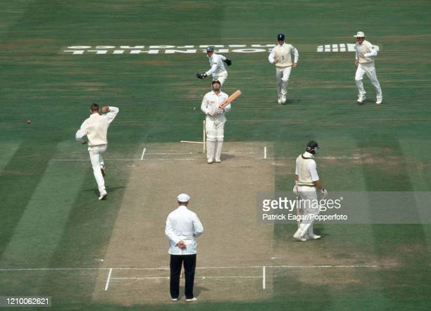 Mark Taylor of Australia is bowled for 8 runs by Steve Watkin of England during the 6th Test match between England and Australia at The Oval London...