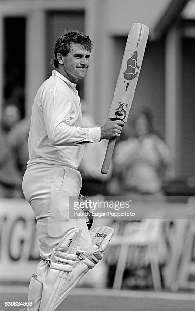 Mark Taylor of Australia walks off after scoring 219 runs in the first innings of the 5th Test match between England and Australia at Trent Bridge...