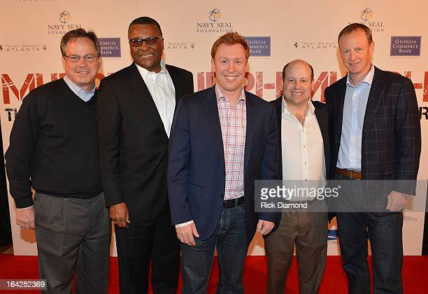 Mark Teichner Jon Jackson Todd Ehrlich Executive Producer/Kill Cliff Andy Katz and Jim Douglass attend the VIP screening of MURPH The Protector at...