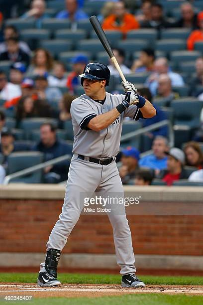 Mark Teixeira of the New York Yankees in action against the New York Mets on May 15 2014 at Citi Field in the Flushing neighborhood of the Queens...