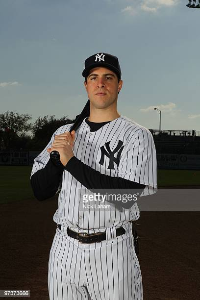Mark Teixeira of the New York Yankees poses for a photo during Spring Training Media Photo Day at George M Steinbrenner Field on February 25 2010 in...
