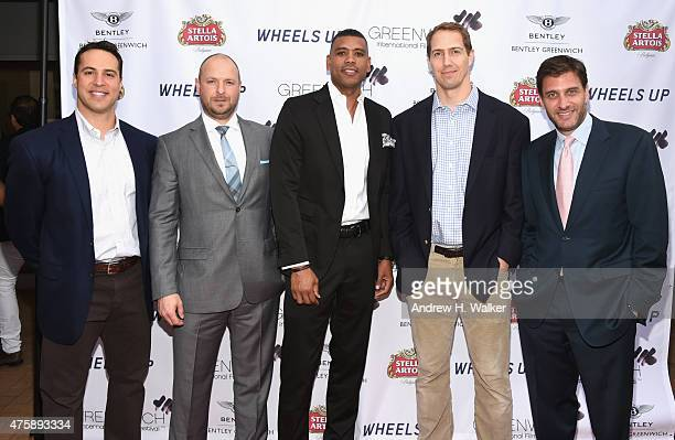 Mark Teixeira Ryen Russillo Allan Houston Patrick Kerney and Mike Greenberg attend Greenwich Film Festival 2015 Sports Guys On Sports Movies Premiere...