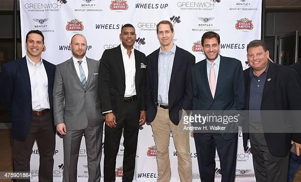 Mark Teixeira Ryen Russillo Allan Houston Patrick Kerney Mike Greenberg and Gary Spitalnik attend Greenwich Film Festival 2015 Sports Guys On Sports...