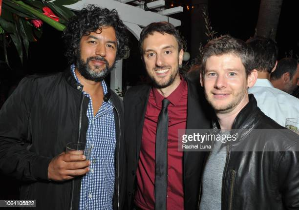 Mark Tewarson Michael Zimbalist and Kevin Doucette attend HBO's Momentum Generation Premiere after party at The Bungalow on November 05 2018 in Santa...