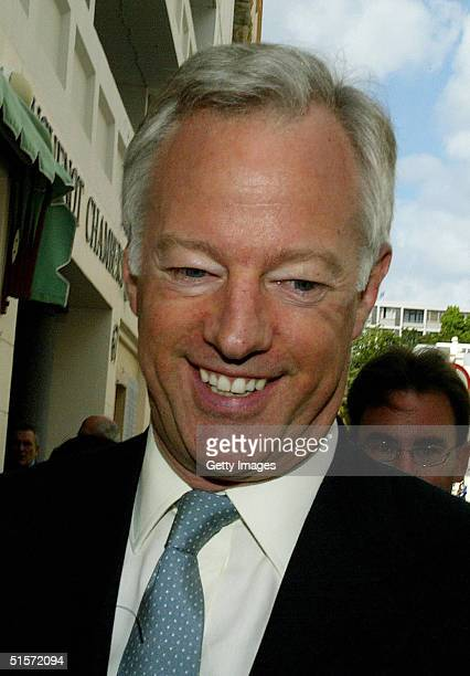 Mark Thatcher arrives at the Cape High Court in Cape Town 26 October 2004 Thatcher arrived at court with his legal team to aim to overturn a subpoena...