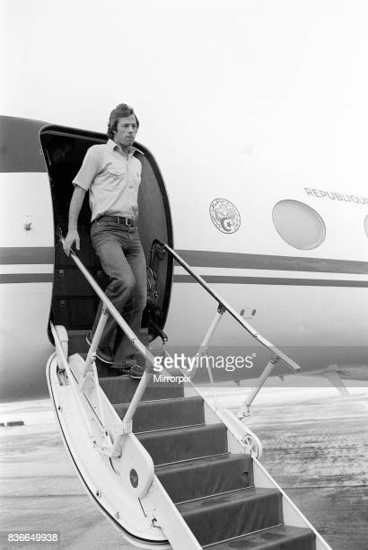 Mark Thatcher leaving the Algerian president's private jet after he had been rescued after going missing during the ParisDakar rally January 1982