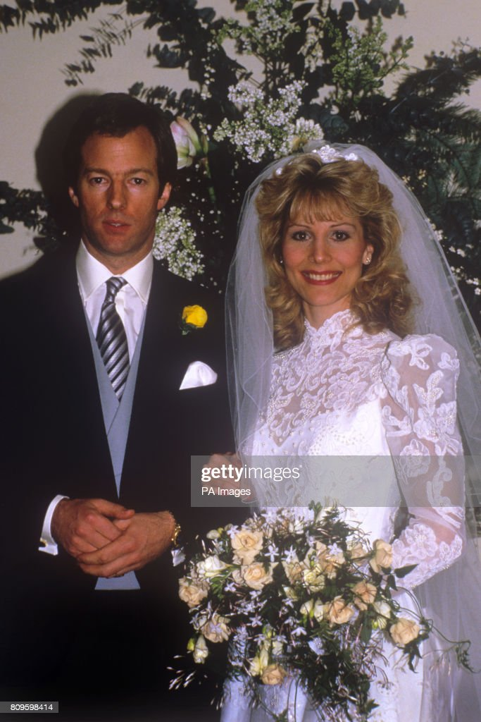 Mark Thatcher Son Of Prime Minister Margaret With His Bride Diane Burgdorf Following