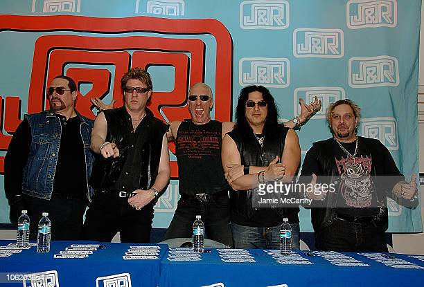 Mark The Animal Mendoza Jay Jay French Dee Snider Eddie Fingers Ojeda and AJ Pero the classic lineup of Twisted Sister sign copies of Live at the...