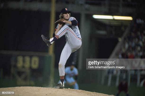 Mark 'The Bird' Fidrych of the Detroit Tigers pitches to the Minnesota Twins during a regular season game on June 20 1976 in Minneapolis Minnesota