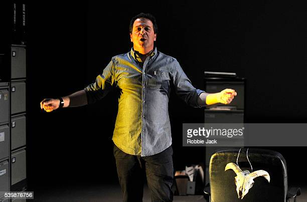 Mark Thomas in Cuckooed directed by Emma Callander at the Traverse Theatre as part of the Edinburgh Festival Fringe