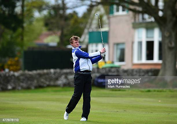 Mark Thompson of Panmuir Golf Club in action during the Galvin Green PGA Assistants' Championship Scottish Qualifier at Auchterarder Golf Club on May...