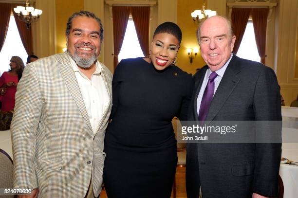 Mark Thompson Symone Sanders and Robert Shrum at Politicon at Pasadena Convention Center on July 30 2017 in Pasadena California