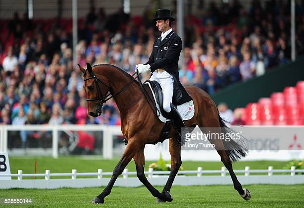 Mark Todd of New Zealand riding Leonidas II during Day Three of the Badminton Horse Trials on May 6 2016 in Badminton Gloucestershire