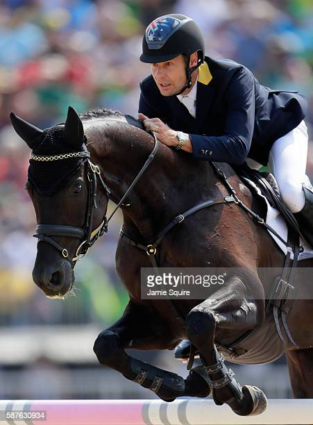 Mark Todd of New Zealand riding Leonidas Ii during the eventing team jumping final and individual qualifier on Day 4 of the Rio 2016 Olympic Games at...