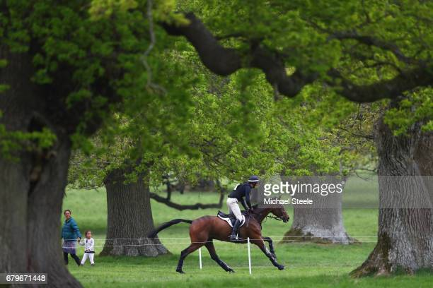 Mark Todd of New Zealand riding NZB Campino during the Cross Country test on day four of Badminton Horse Trials on May 6 2017 in Badminton...