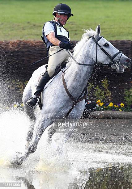 Mark Todd riding NZB Land Vision as they compete in the cross country stage during day three of the Badminton Horse Trials on April 24, 2011 in...