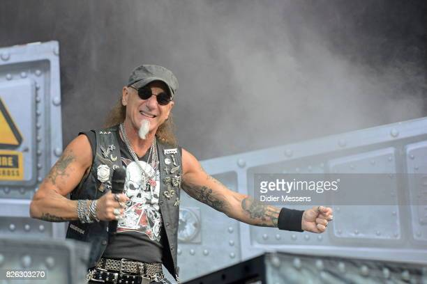 Mark Tornillo of Accept performing live during the first day of the Wacken Open Air festival on August 3 2017 in Wacken Germany