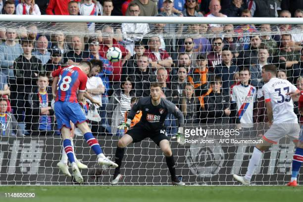 Mark Travers of Bournemouth during the Premier League match between Crystal Palace and AFC Bournemouth at Selhurst Park on May 12 2019 in London...
