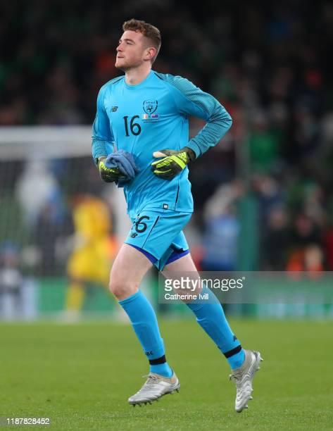 Mark Travers of Republic of Ireland during the International Friendly match between Republic of Ireland and New Zealand at Aviva Stadium on November...