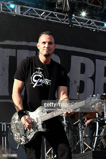 Mark Tremonti from Alter Bridge performs at Columbus Crew Stadium on May 18 2014 in Columbus Ohio