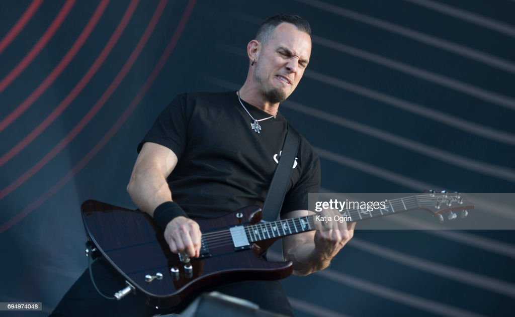 Mark Tremonti of Alter Bridge performing live on Day 3 of Download Festival at Donington Park on June 11, 2017 in Castle Donington, UK.