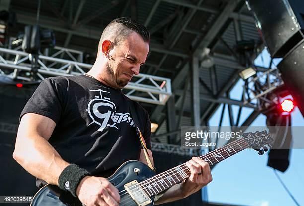 Mark Tremonti of Alter Bridge performs during 2014 Rock On The Range at Columbus Crew Stadium on May 18 2014 in Columbus Ohio