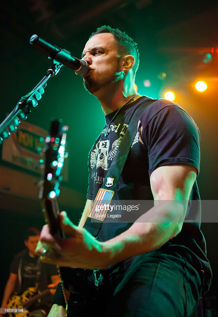 Mark Tremonti of Tremonti performs in concert at The Crofoot on February 21, 2013 in Pontiac, Michigan.
