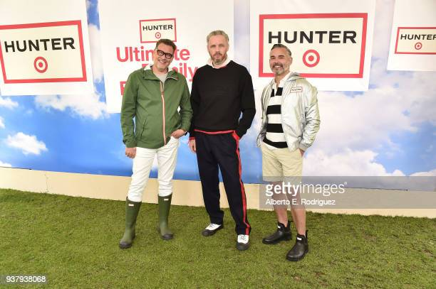 Mark Tritton Alasdhair Willis and Rick Gomez attend the Hunter For Target Ultimate Family Festival at Brookside Golf Club on March 25 2018 in...