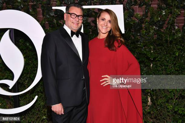 Mark Tritton and Bernadette Tritton arrives at the #BoF500 gala dinner during New York Fashion Week Spring/Summer 2018 at Public Hotel on September 9...