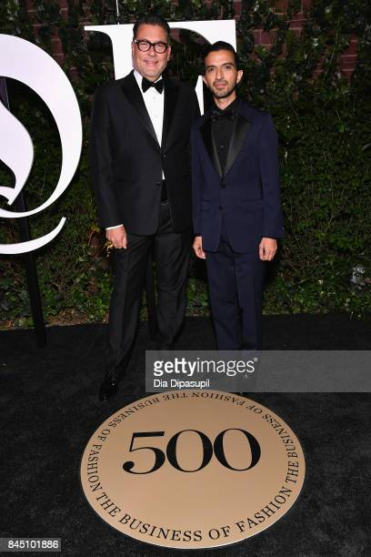 Mark Tritton and Founder and EditorinChief of The Business of Fashion Imran Amed attend the #BoF500 party during New York Fashion Week Spring/Summer...