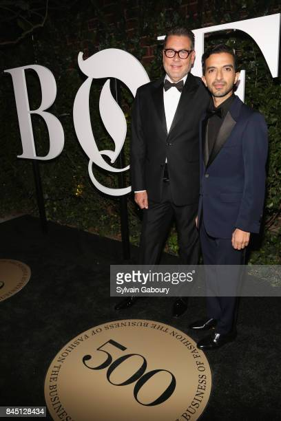 Mark Tritton and Imran Amed attend 2017 BoF 500 Gala at Public Hotel on September 9 2017 in New York City