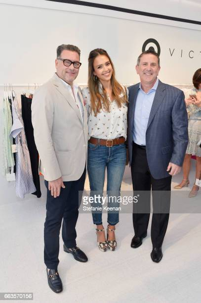 Mark Tritton Executive Vice President and Chief Merchandising Officer of Target actress Jessica Alba and Brian Cornell Board Chairman and CEO of...