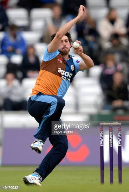 Mark Turner of Derbyshire Falcons during their Natwest T20 Blast between Yorkshire Vikings and Derbyshire Falcons at Headingley on May 30 2014 in...
