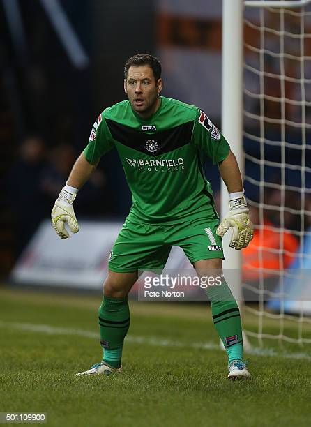 Mark Tyler of Luton Town in action during the Sky Bet League Two match between Luton Town and Northampton Town at Kenilworth Road on December 12 2015...