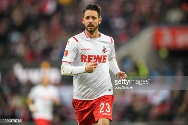 Mark Uth of Cologne during the Bundesliga match between 1 FC Koeln and VfL Wolfsburg at RheinEnergieStadion on January 18 2020 in Cologne Germany