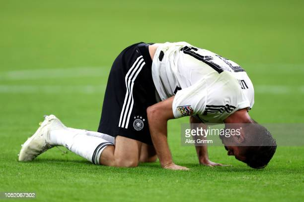 Mark Uth of Germany reacts during the UEFA Nations League A group one match between Netherlands and Germany at Johan Cruyff Arena on October 13 2018...