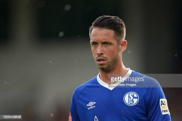 Cedric Teuchert of Schalke 04 during the Club Friendly match between Schalke 04 v Schwarz Weiss Essen at the Uhlenkrugstadion on July 21 2018 in...